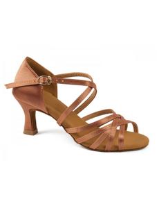 Туфли для танцев (каблук 5 см) (размер 34-42) бежевые 5525С