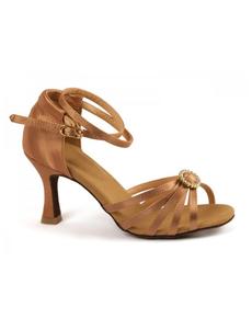 Туфли с каблуком 7 см (размеры 35-41) бежевые 5530А