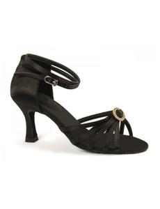 Туфли с каблуком 7 см (размеры 35-41) черные 5530А