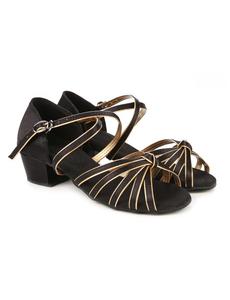 Туфли для танцев (каблук 3 см) (размеры 26-40) черные 5555Д