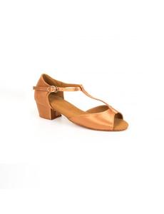 Туфли для танцев (каблук 3 см) (размеры 26-39) бежевые  5556.2Д