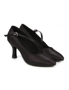 Туфли для танцев (каблук 7 см) (размеры 35-41) черные 7752А