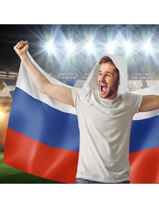 Флаг-накидка с капюшоном триколор Россия, 90х150 см, фото 2
