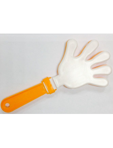 Ладошка-трещотка белая-оранжевая-белая, фото 1