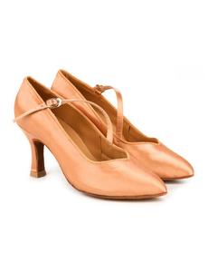 Туфли для танцев (каблук 7 см) (размеры 35-41) бежевые 7752А