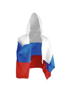 Флаг-накидка с капюшоном триколор Россия, 90х150 см, фото 1