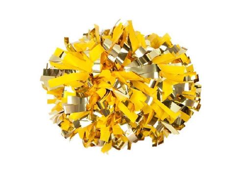 Помпон премиум класса желтый с золотом, фото 1